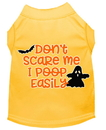 Mirage Pet Products 51-427 YWXS Don't Scare Me, Poops Easily Screen Print Dog Shirt Yellow XS