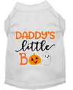 Mirage Pet Products 51-431 WTMD Daddy's Little Boo Screen Print Dog Shirt White Med