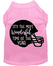 Mirage Pet Products 51-432 LPKXS Most Wonderful Time of the Year (Football) Screen Print Dog Shirt Light Pink XS