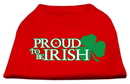 Mirage Pet Products 51-64 SMRD Proud to be Irish Screen Print Shirt Red Sm