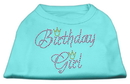 Mirage Pet Products 52-11 XSAQ Birthday Girl Rhinestone Shirt Aqua XS