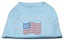 Mirage Pet Products 52-21 LGBBL Classic American Rhinestone Shirts Baby Blue L