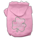 Mirage Pet Products 54-36 MDPK Happy St. Patrick's Day Rhinestone Hoodie Light Pink M