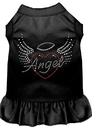 Mirage Pet Products 57-55 XSBK Angel Heart Rhinestone Dress Black XS
