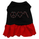 Mirage Pet Products Peace Love Candy Cane Rhinestone Dress