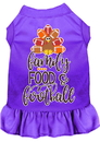 Mirage Pet Products 58-428 PR4X Family, Food, and Football Screen Print Dog Dress Purple 4X