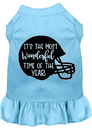 Mirage Pet Products Most Wonderful Time of the Year (Football) Screen Print Dog Dress