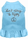 Mirage Pet Products 58-58 BBLXS Be Hippy Screen Print Dog Dress Baby Blue XS
