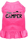 Mirage Pet Products 58-59 BPKXXXL Happy Camper Screen Print Dog Dress Bright Pink XXXL