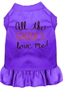 Mirage Pet Products 58-62 PRXS All the Ghouls Screen Print Dog Dress Purple XS