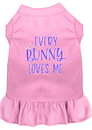 Mirage Pet Products 58-70 LPKMD Every Bunny Loves me Screen Print Dog Dress Light Pink Med