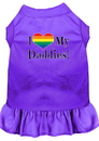 Mirage Pet Products 58-78 PRMD I Heart my Daddies Screen Print Dog Dress Purple Med