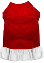 Mirage Pet Products 59-00 XSRDWT Plain Pet Dress Red with White XS