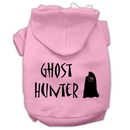 Mirage Pet Products 62-13-03 XSLPK Ghost Hunter Screen Print Pet Hoodies Light Pink with Black Lettering XS
