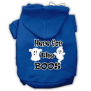 Mirage Pet Products 62-163 XXLBL Here for the Boos Screenprint Dog Hoodie Blue XXL