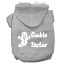 Mirage Pet Products 62-25-01 SMGY Cookie Taster Screen Print Pet Hoodies Grey Size Sm
