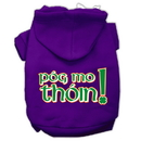 Mirage Pet Products 62-63 MDPR Pog Mo Thoin Screen Print Pet Hoodies Purple Size Med