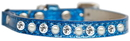 Mirage Pet Products 625-10 BL10 Pearl and Clear Jewel Ice Cream Cat safety collar Blue Size 10