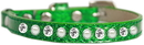 Mirage Pet Products 625-10 EG10 Pearl and Clear Jewel Ice Cream Cat safety collar Emerald Green Size 10