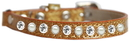 Mirage Pet Products 625-10 GD10 Pearl and Clear Jewel Ice Cream Cat safety collar Gold Size 10