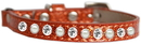 Mirage Pet Products 625-10 OR10 Pearl and Clear Jewel Ice Cream Cat safety collar Orange Size 10