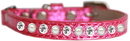 Mirage Pet Products 625-10 PK10 Pearl and Clear Jewel Ice Cream Cat safety collar Pink Size 10