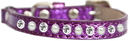 Mirage Pet Products 625-10 PR10 Pearl and Clear Jewel Ice Cream Cat safety collar Purple Size 10