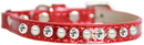 Mirage Pet Products 625-10 RD10 Pearl and Clear Jewel Ice Cream Cat safety collar Red Size 10