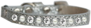 Mirage Pet Products 625-10 SV10 Pearl and Clear Jewel Ice Cream Cat safety collar Silver Size 10