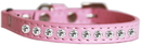 Mirage Pet Products 625-7 LPK14 Clear Jewel Cat safety collar Light Pink Size 14