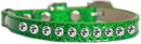 Mirage Pet Products 625-8 EG10 Clear Jewel Ice Cream Cat safety collar Emerald Green Size 10