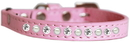 Mirage Pet Products 625-9 LPK10 Pearl and Clear Jewel Cat safety collar Light Pink Size 10