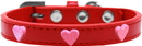 Mirage Pet Products 631-13 RD16 Pink Glitter Heart Widget Dog Collar Red Size 16