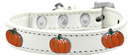 Mirage Pet Products 631-26 WT10 Pumpkin Widget Dog Collar White Size 10