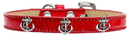 Mirage Pet Products 633-22 RD20 Silver Anchor Widget Dog Collar Red Ice Cream Size 20