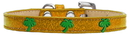 Mirage Pet Products 633-24 GD10 Green Palm Tree Widget Dog Collar Gold Ice Cream Size 10