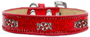 Mirage Pet Products 633-28 RD14 Peppermint Widget Dog Collar Red Ice Cream Size 14