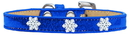 Mirage Pet Products 633-7 BL18 Snowflake Widget Dog Collar Blue Ice Cream Size 18