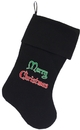 Mirage Pet Products Merry Christmas Screen Print 18 inch Velvet Christmas Stocking