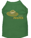 Mirage Pet Products 650-04 GRMD Scout Master Embroidered Dog Shirt Green Med