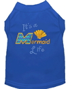 Mirage Pet Products 650-05 BLXXL Mermaid Life Embroidered Dog Shirt Blue XXL