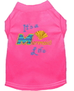 Mirage Pet Products 650-05 BPKXL Mermaid Life Embroidered Dog Shirt Bright Pink XL