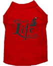 Mirage Pet Products 650-06 RDLG A Pirate's Life Embroidered Dog Shirt Red Lg