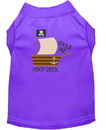 Mirage Pet Products 650-08 PRMD Poop Deck Embroidered Dog Shirt Purple Med