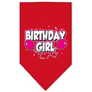 Mirage Pet Products 66-06 SMRD Birthday girl Screen Print Bandana Red Small