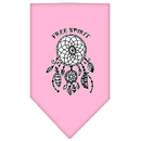 Mirage Pet Products 66-165 SMLPK Free Spirit Screen Print Bandana Light Pink Small