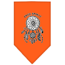 Mirage Pet Products 66-165 LGOR Free Spirit Screen Print Bandana Orange Large