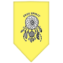 Mirage Pet Products 66-165 LGYW Free Spirit Screen Print Bandana Yellow Large