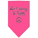 Mirage Pet Products 66-168 SMBPK Be Hippy Screen Print Bandana Bright Pink Small