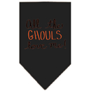 Mirage Pet Products All the Ghouls Screen Print Bandana